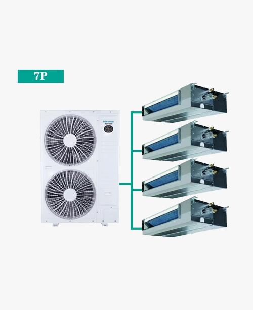 海信荣耀家系列 家用中央空调 多联机 HVR-200W 7匹一拖四(90-150㎡)