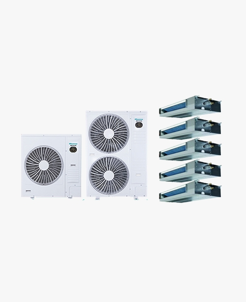 海信荣耀家系列 家用中央空调 多联机HVR-160W 6匹一拖五(80-140㎡)